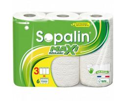 Essuie-Tout Maxi Absorb 3=6 Rouleaux Sopalin