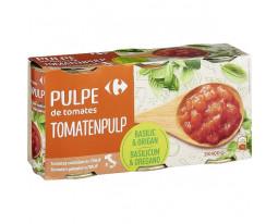 Pulpe de Tomates Pelées Concassées au Basilic et Origan Carrefour