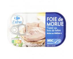 Foie de Morue Fumé au Bois de Hêtre Carrefour