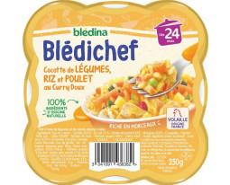 Cocotte de Légumes Riz et Poulet au Curry Dès 24 Mois Blédina