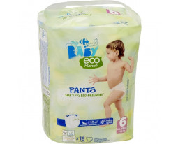 Couches Culottes Taille 6 16kgs et + Eco Carrefour Baby