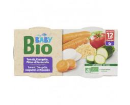 Tomate, Courgette, Pâtes et Mozzarelle Bio Dès 12 Mois Carrefour Baby