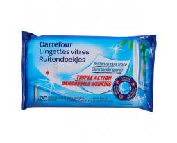 Lingettes Vitres 3-en-1 Carrefour