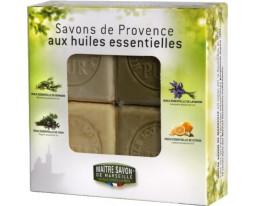 Coffret 4 Savons Provence Huiles Essentielles Maître Savon