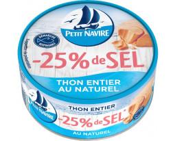 Thon Rose Listao Entier au Naturel -25% de Sel Petit Navire