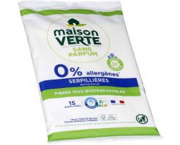 Serpillères Nettoyantes Sans Allergènes Biodégradables Maison Verte
